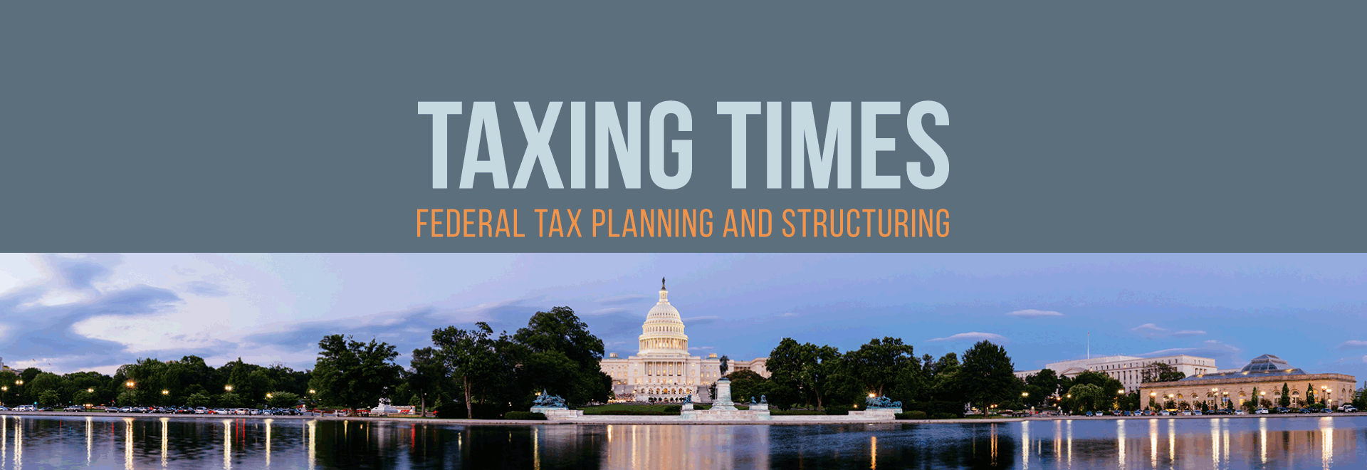 Taxing times blog header